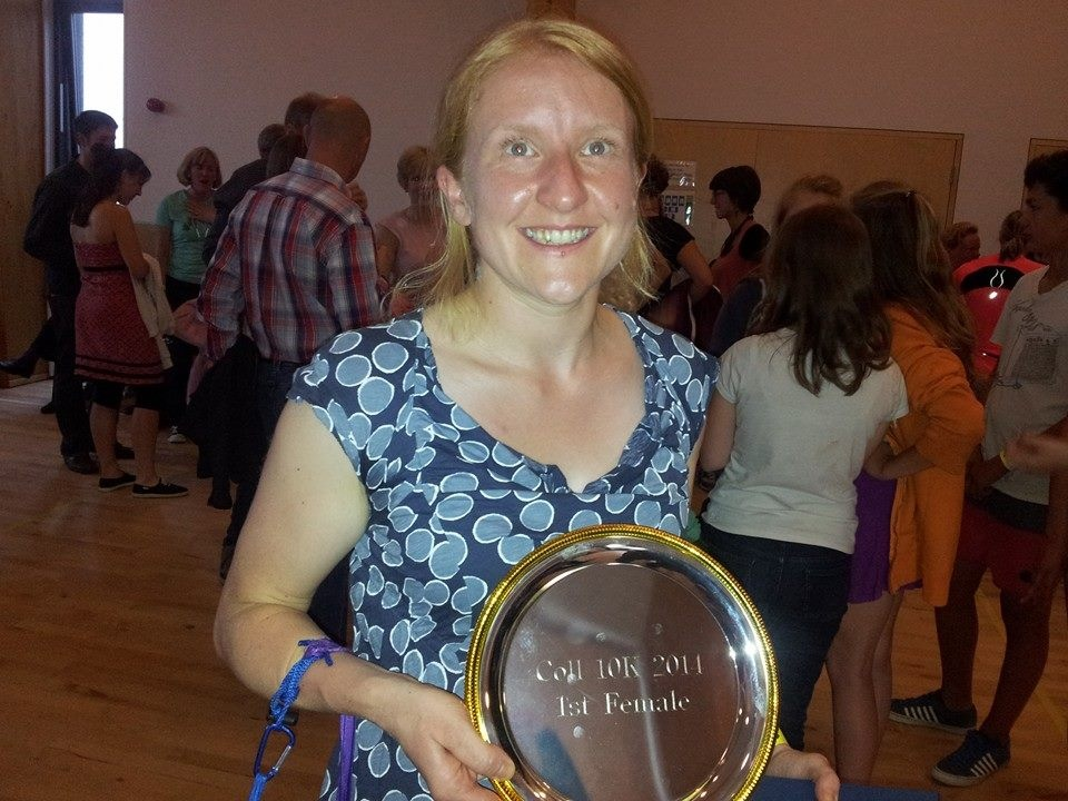 Mel MacRae 1st Lady Isle of Coll 10k Aug 14