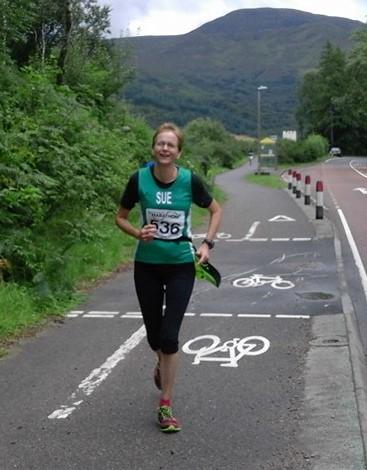 Sue Jones in action
